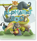Cover image for the english children's book, Alphabet Zoo for Boys