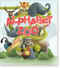 Cover image for the english children's book, Alphabet Zoo for Girls