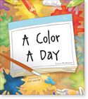 Cover image for personalized children's book, A Color A Day for Girls