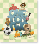 Cover image for personalized children's book, One Toy Two for Boys