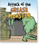 Cover image for personalized children's book, Attack of the Grease Monster